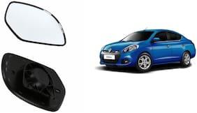 Carizo Car Rear View Side Mirror Glass LEFT-Renault Scala