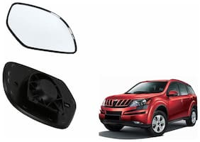 Carizo Car Rear View Side Mirror Glass LEFT-Mahindra XUV 500 Type 1 (2012-2014)
