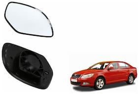 Carizo Car Rear View Side Mirror Glass LEFT-Skoda Laura Type 1 (2004-2012)