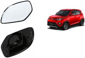 Carizo Car Rear View Side Mirror Glass LEFT-Mahindra KUV 100