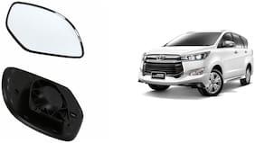 Carizo Car Rear View Side Mirror Glass LEFT-Toyota Innova Crysta