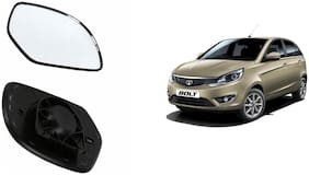 Carizo Car Rear View Side Mirror Glass RIGHT-Tata Bolt