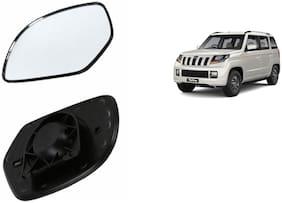 Carizo Car Rear View Side Mirror Glass LEFT-Mahindra TUV 300