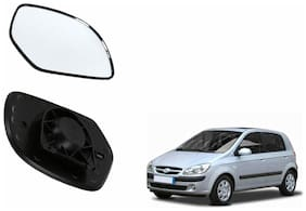 Carizo Car Rear View Side Mirror Glass RIGHT-Hyundai Getz Type 1