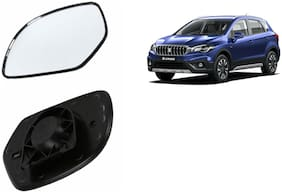 Carizo Car Rear View Side Mirror Glass RIGHT-Maruti S-Cross