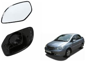 Carizo Car Rear View Side Mirror Glass RIGHT-Honda City Type 3 (2005-2008)