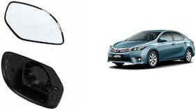 Carizo Car Rear View Side Mirror Glass LEFT-Toyota Corolla Altis Type 2