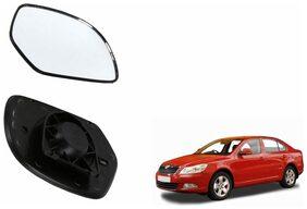 Carizo Car Rear View Side Mirror Glass RIGHT-Skoda Laura Type 1 (2004-2012)