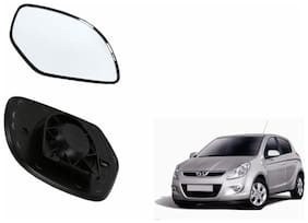 Carizo Car Rear View Side Mirror Glass RIGHT-Hyundai i20 Elite