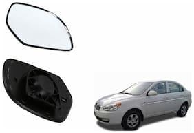 Carizo Car Rear View Side Mirror Glass RIGHT-Hyundai Verna Type 4