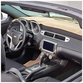 Carmate Car Dashboard Cover For Chevrolet Beat - Beige