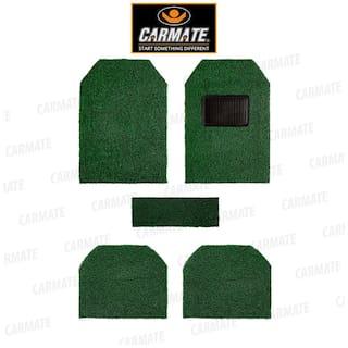 CARMATE Car Grass Floor Mat, Anti-Skid Curl Car Foot Mats For Maruti-800 (Green-Black)