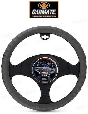 CARMATE Car Steering Cover Finger Grip For Renault Kwid (Medium Grey)