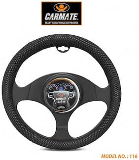 CARMATE Super Grip Car Steering Cover for Santro 2018 (Medium)-Black-2615