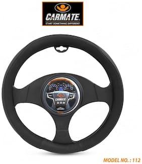 CARMATE Super Grip Car Steering Cover for Grand I10 (Medium)-Black