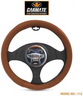 CARMATE Super Grip Car Steering Cover for Micra (Medium)-Brown