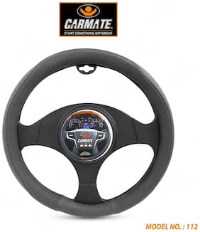 CARMATE Super Grip Car Steering Cover for Santro 2018 (Medium)-Grey