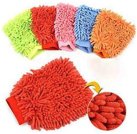 CarPoint Microfibre Dusting And Cleaning Gloves Set Of 2