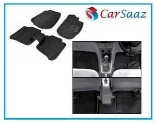 Carsaaz 3D Black Foot Mats For Nissan Terrano (Set Of 5 pc)