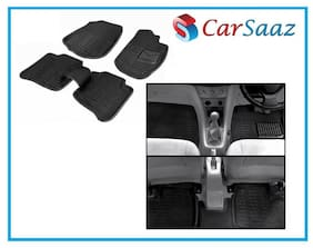 Carsaaz 3D Black Foot Mats For Maruti Swift (Set Of 5 pc)