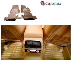 Carsaaz 5D mats for Honda Amaze- Beige