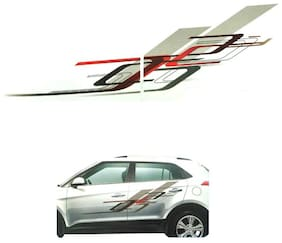 CarSaaz  Car Graphics/Stickers Decals (GL - 214 R) For Hyundai Creta
