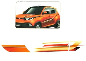 CarSaaz  Car Graphics/Stickers Decals (GL - 218 O) For Mahindra KUV 100