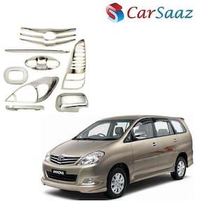 Carsaaz Chrome Accessories Combo/Pack for Toyota Innova (Type-2)