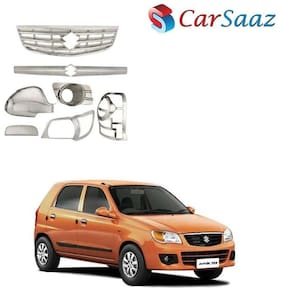 Carsaaz Chrome Accessories Combo/Pack for Maruti Alto K-10 (Type-1)