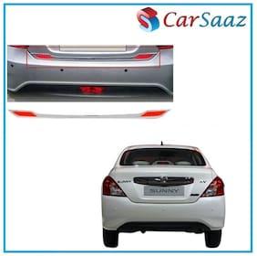 Carsaaz Dicky Chrome/Garnish Reflector For Nissan Sunny