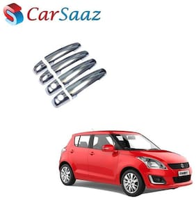 Carsaaz Door Catch/Handle Cover Chrome for Maruti Swift Type - 2