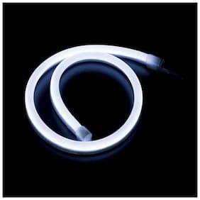 Carsaaz Flexible 30cm Bike Headlight Neon Light/Tube for  Bajaj Boxer - White