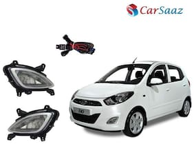 Carsaaz FOG LAMP For HYUNDAI I10 TYPE 2 with wiring and switch