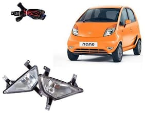 Carsaaz FOG LAMP For TATA NANO with wiring and switch