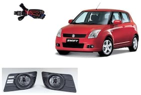 Carsaaz FOG LAMP For MARUTI SWIFT TYPE 1 with wiring and switch