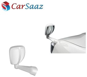 Carsaaz Front Fender Rear View Wide Angle Mirror - White for Toyota Innova New