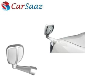 Carsaaz Front Fender Rear View Wide Angle Mirror - Silver for Nissan X-trail