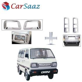 Carsaaz Head Light & Tail Light Molding Chrome Combo for Maruti Suzuki Omni type-3