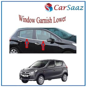 Carsaaz Lower Window Garnish Chrome for Maruti Alto 800