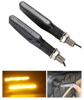 Cartronics- 2PCS 12V LED Motorcycle Bike Turn Signal Indicator Light Turning Lamp