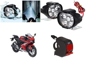Cartronics 6 LED Silone Fog Light with Switch For Yamaha YZF R15 V3