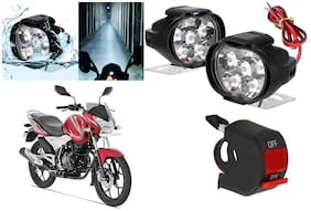 Cartronics 6 LED Silone Fog Light with Switch For Bajaj Discover 125ST