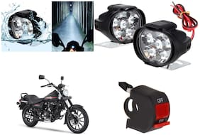 Cartronics 6 LED Silone Fog Light with Switch For Bajaj Avenger Street 220