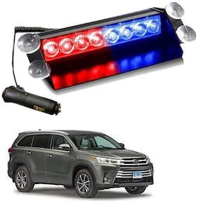 Cartronics 8 LED Red Blue Police Flasher Light for Toyota Highlander