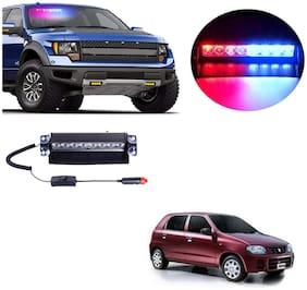 Cartronics 8 LED Red Blue Police Flasher Light for Maruti Suzuki Alto K10