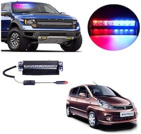 Cartronics 8 LED Red Blue Police Flasher Light for Maruti Suzuki Zen Estilo