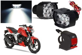 Cartronics 9 Led Silon Fog Light White With On/Off Swich For TVS Apache RTR 160 4V
