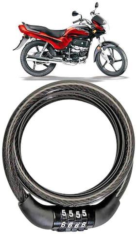 Cartronics  Bike Number Lock/Helmet Lock/Steel Cable Lock/Bicycle Cycle Lock for Hero Passion Plus