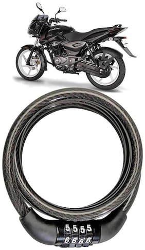 Cartronics  Bike Number Lock/Helmet Lock/Steel Cable Lock/Bicycle Cycle Lock for Bajaj Pulsar 150 DTS-i