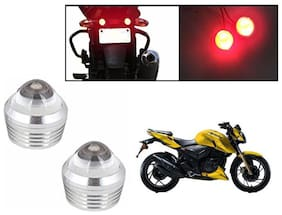 cartronics Bike Red LED Projector Strobe Brake Lights Mini Set Of 2 For All Bikes And Scooty